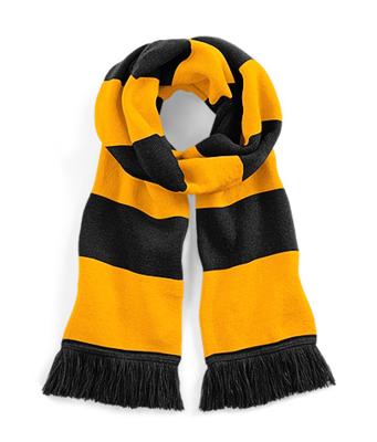 Sjaal beechfield zwart goud 182 cm