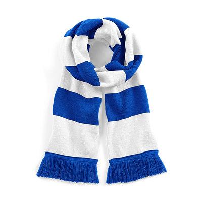 Sjaal beechfield royal blue wit 182 cm