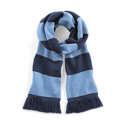 Sjaal beechfield navy sky blue 182 cm