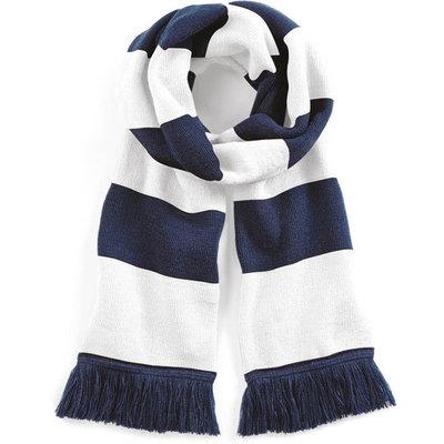 Sjaal beechfield french navy white 182 cm