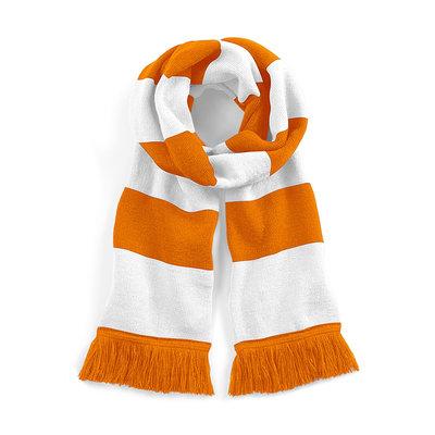 Sjaal beechfield orange white 182 cm