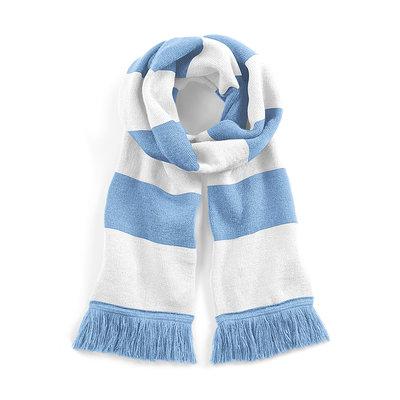 Sjaal beechfield sky blue white 182 cm