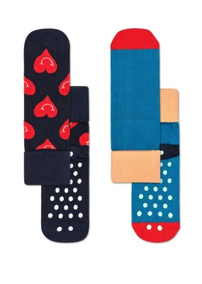 Happy Socks KIDS anti slip green en hearts Sokken