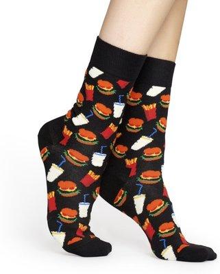 Happy Socks Hamburger Sokken zwart maat 36-40 en 41-46
