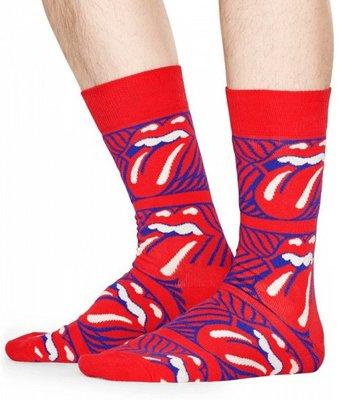 Happy Socks Collabs Rolling Stones Stripe Me Up Sock rood maat 36-40 en 41-46