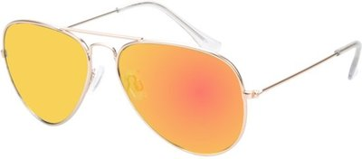 polariserende piloten zonnebril geel spiegel grijze lenzen