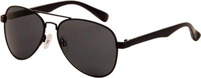 Polariserende piloten zonnebril zwart en grijs glas