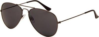 Polariserende piloten zonnebril donker zilverkleur en grijs/zwart glas