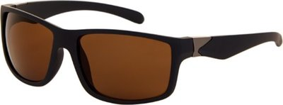 polariserende casual zonnebril zwart met bruin glas