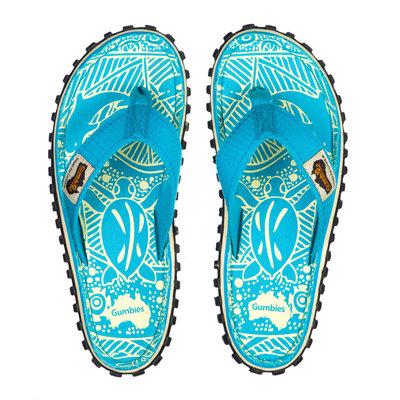 Gumbies - Islander Canvas Flip-Flops - Turquoise