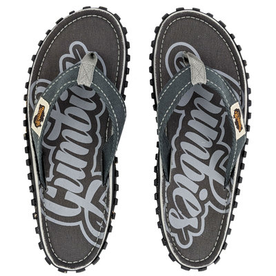 Gumbies - Islander Canvas Flip-Flops - Cool Grey