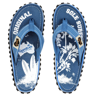 Gumbies - Islander Canvas Flip-Flops - Palm