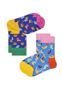 Happy Socks KIDS 2 Pack Hamburger en banaan - 0-12 maanden en 12-24 maanden