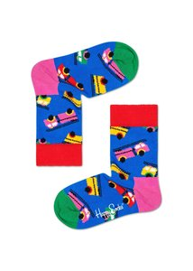 Happy Socks KIDS - Fire Truck - Blauw multi - Unisex - 2-3 jaar en 4-6 jaar