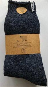 wollen sokken blauw
