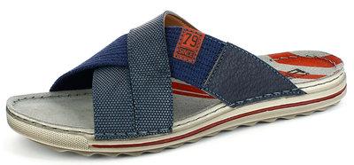 slippers heren blauw
