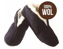 Spaanse sloffen bernardino donkerblauw 100% wol