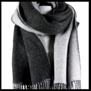 Scarf, ladies, caleb color black, length 205 cm