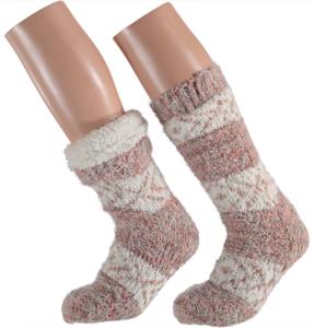 Apollo Huis sokken gevoerd oud roze (one size 36/41)