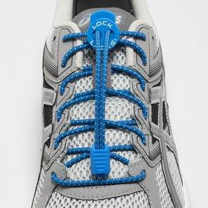 Lock Laces elastische veters blauw one size