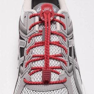 Lock Laces elastische veters rood one size