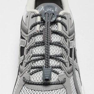 Lock Laces elastische veters grijs reflective one size