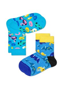 Happy Socks KIDS 2 Pack birds en dino's - 12 maanden en 4-6 jaar