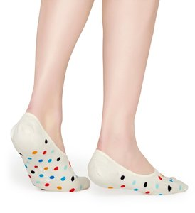 Happy Socks Liner Socks Dot Gebroken Wit, Maat 36/40