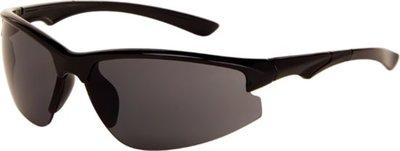 Polariserende sportieve zonnebril zwart met grijs glas