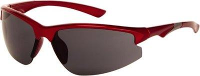 Polariserende sportieve zonnebril rood met grijs glas