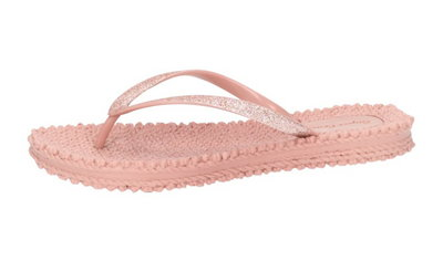 Super Cracks teenslipper roze